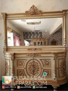 Meja Rias Bufet Cermin Butterfly Gold Duco