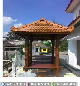 Gazebo Model Kenteng Motif sisik