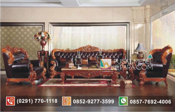 Set Kursi Tamu Sofa Mewah Ukir Royal Baroque Rustic