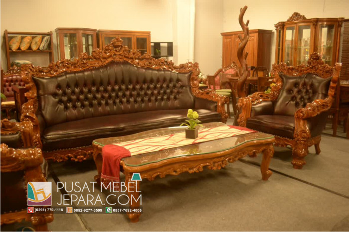 Set Kursi Tamu Sofa New Barcelona Flowris