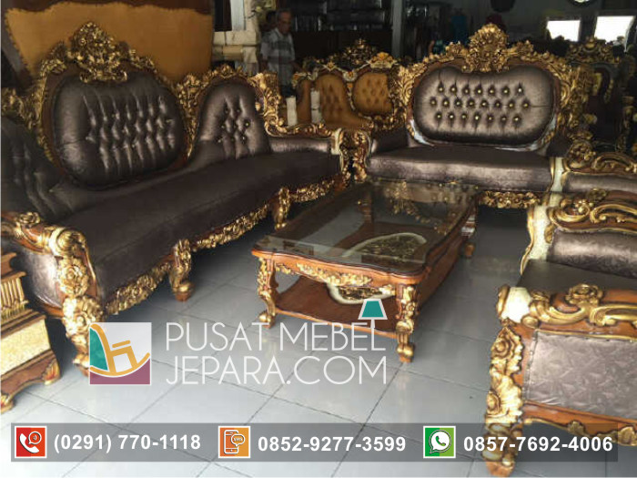 Set Kursi Tamu Sofa Royal Calista Ukiran Mewah