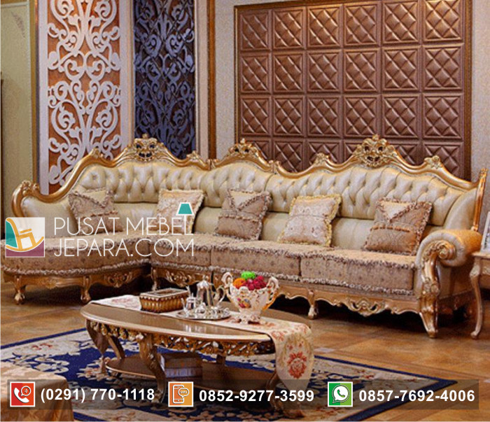 Set Sofa Sudut Mewah Luxury Trend Oscar