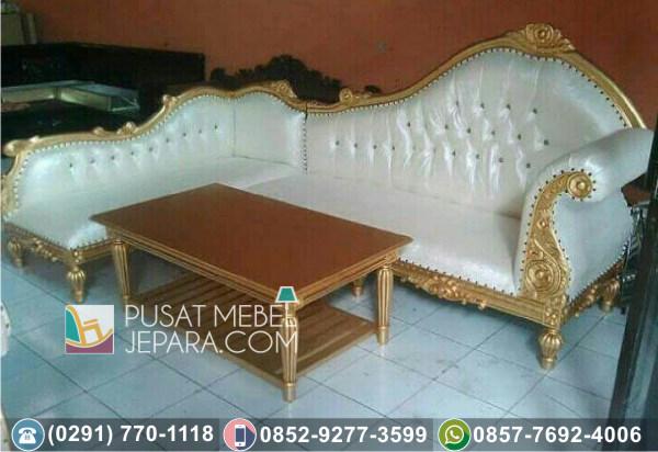 Kursi Tamu Sofa Sudut Ukir Purnawarman