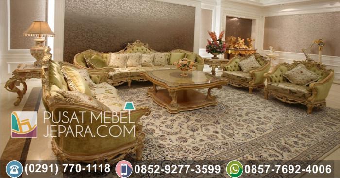 Kursi Tamu Sofa Ukir Jati Gajah Putih
