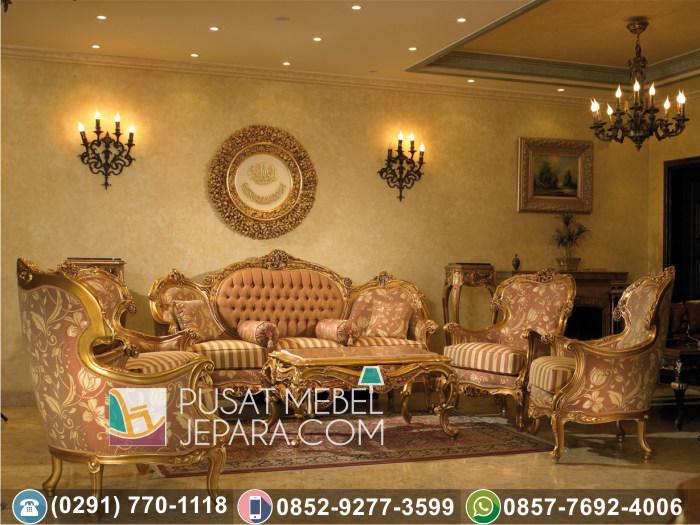 Kursi Tamu Sofa Ukir Mewah Golden Arabic