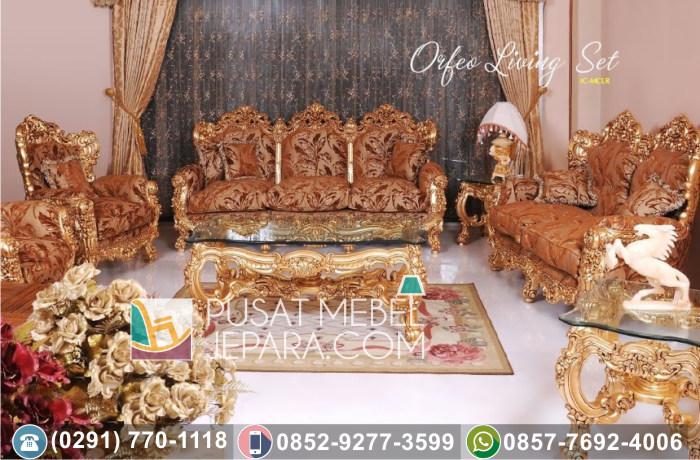 Kursi Tamu Sofa Ukir Mewah Orfeo Living Set