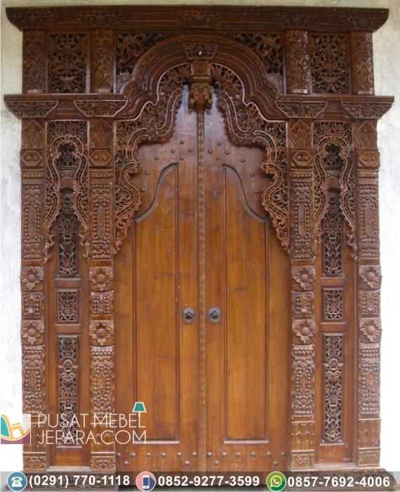 Pintu Ukir Unik Gebyok Jati Asli Kuningan Termurah