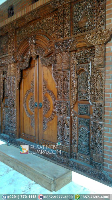 Pintu Ukir Unik Gebyok Jati Asli Kuningan Terpercaya