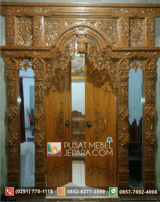 Pintu Ukir Unik Gebyok Jati Asli Tangerang Terbaru
