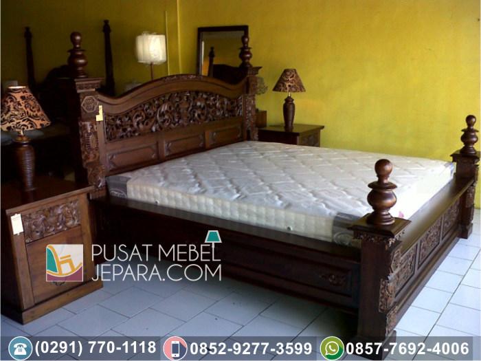 Jual Set Tempat Tidur Minimalis Terbaru Modern Jati Asli Wilayah Sumenep