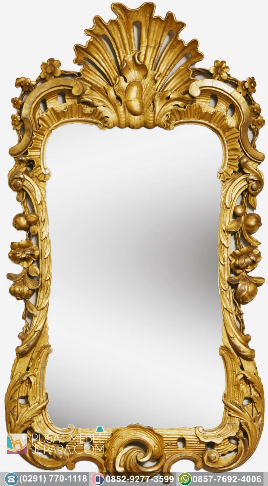 Bingkai Frame Pigura Cermin Ukir Minimalis Kediri Terbaru Duco Putih