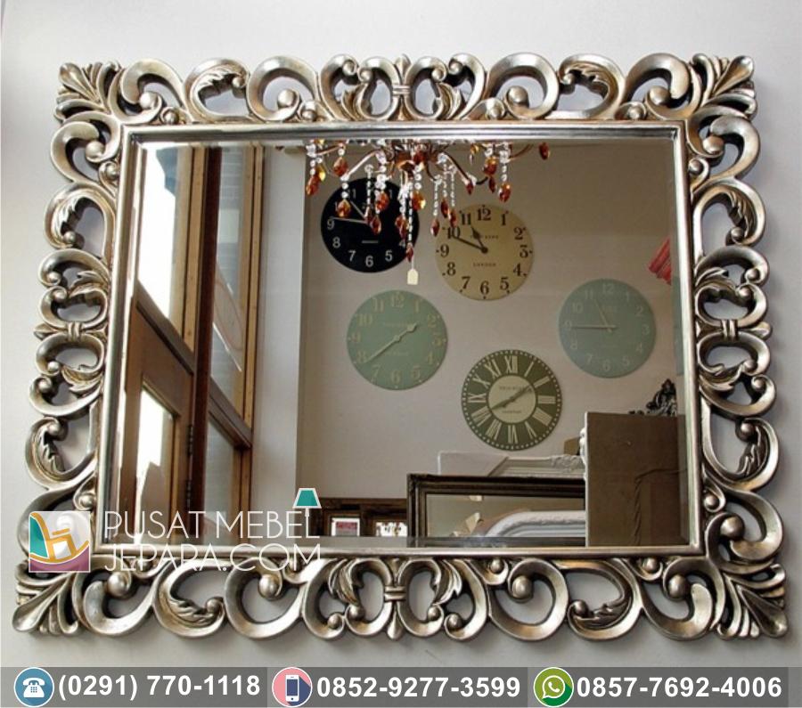 Bingkai Frame Pigura Cermin Ukir Minimalis Kendal Klasik Mewah
