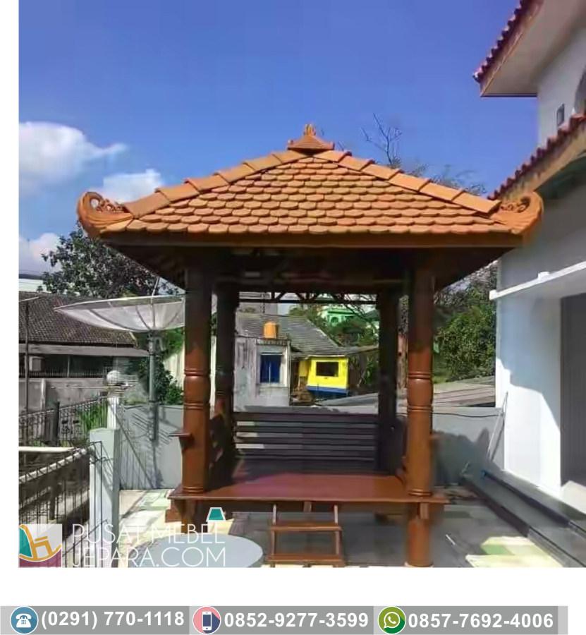 Jual Gazebo Glugu dan Jati Surabaya Termurah