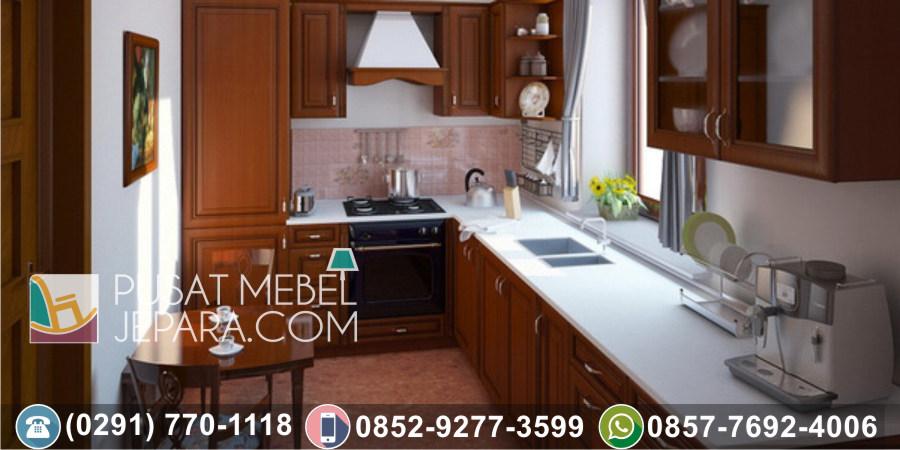 Jual Kitchen Set Jati Ukir Minimalis Tulungagung Terlengkap