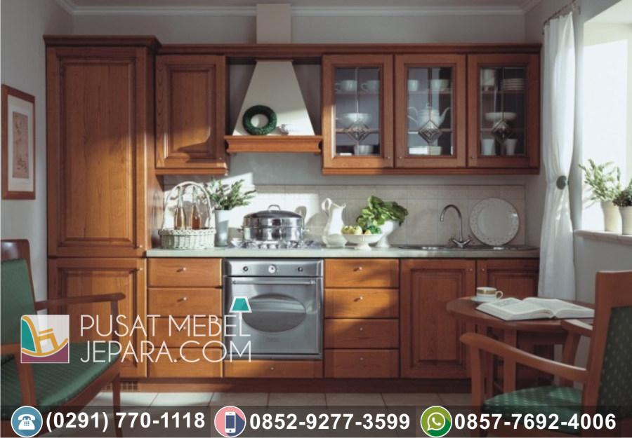 Jual Kitchen Set Jati Ukir Minimalis Ciamis Terlengkap