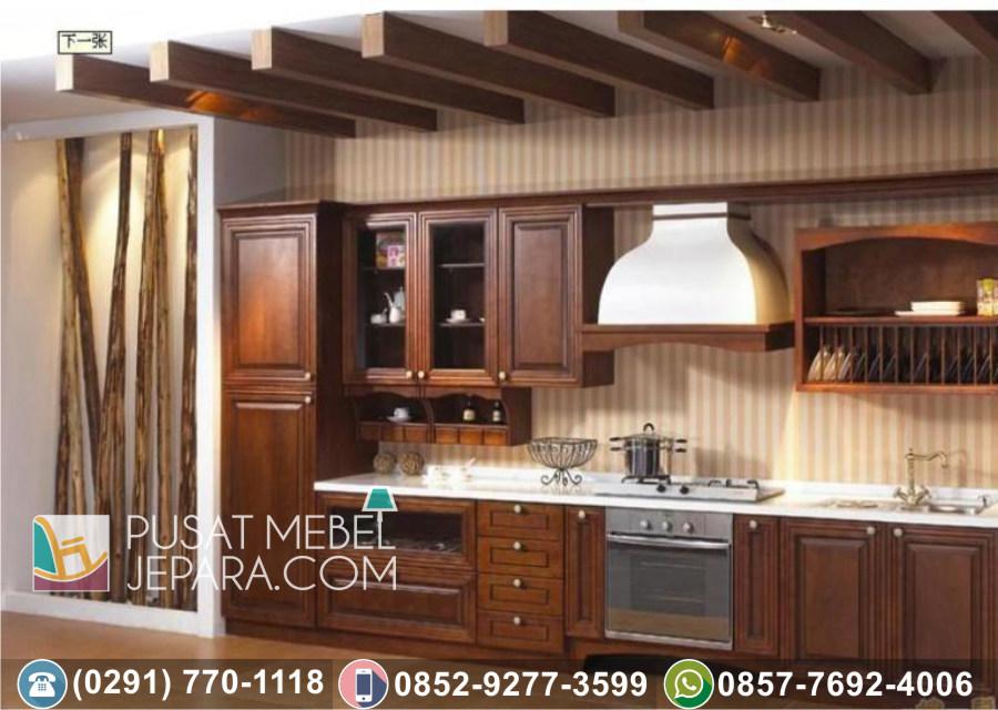 Jual Kitchen Set Jati Ukir Minimalis Indramayu Terlengkap