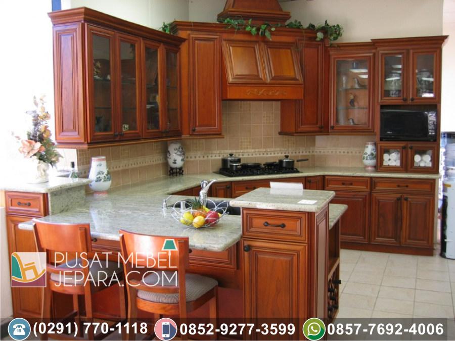 Jual Kitchen Set Jati Ukir Minimalis Indramayu Terpercaya