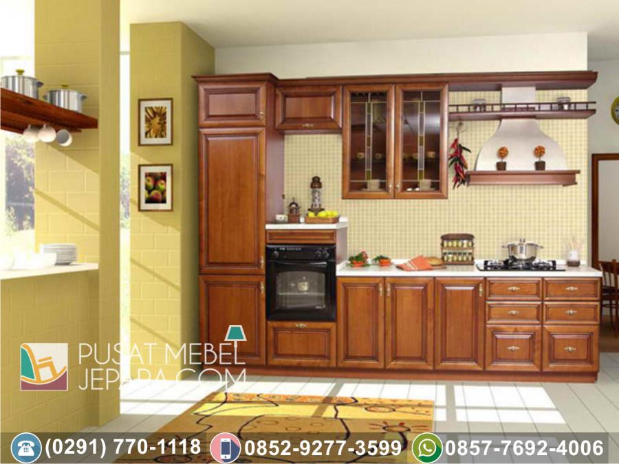 Jual Kitchen Set Jati Ukir Minimalis Ciamis Terpercaya