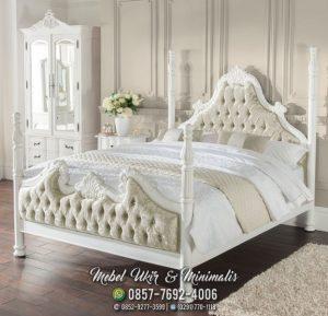 Tempat Tidur Duco Ukir Putih