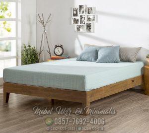 Tempat Tidur Minimalis Modern Terbaru Kayu Jati
